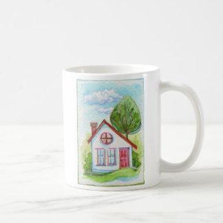 Colorful Watercolor House Coffee Mugs