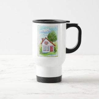 Colorful Watercolor House Mug