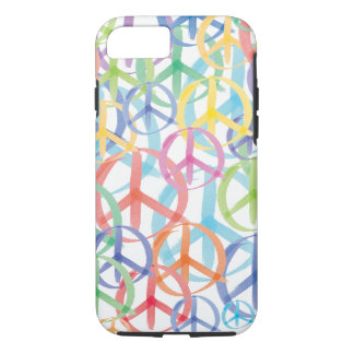 Colorful Watercolor Peace Symbols iPhone 7 Case