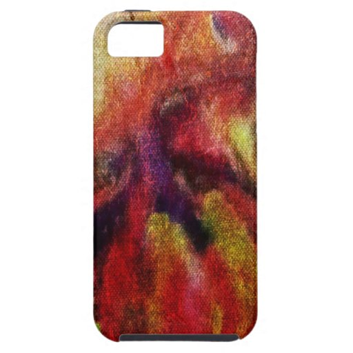 colorful watercolor, reworked linen-look iPhone 5 cases