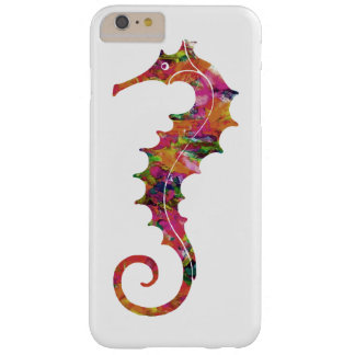 Colorful watercolor seahorse barely there iPhone 6 plus case