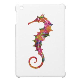 Colorful watercolor seahorse cover for the iPad mini