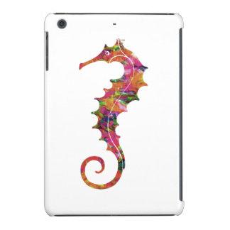 Colorful watercolor seahorse iPad mini case