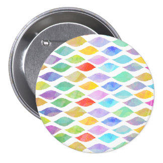 Colorful watercolor waves pattern button