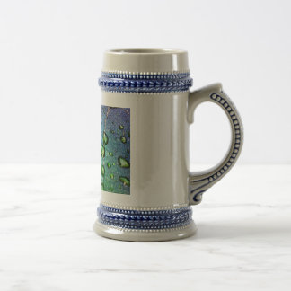 Colorful Waterdrops on Leaf Coffee Mug