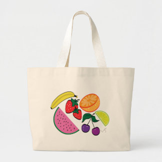 Colorful Watermelon Fruit Summer, Cool Large Tote Bag