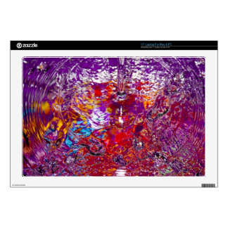 Colorful Waters Abstract Photograph Decal For Laptop