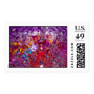 Colorful Waters Abstract Photograph Postage