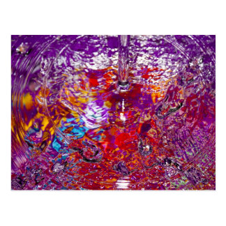 Colorful Waters Abstract Photograph Postcard