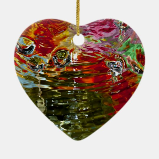 Colorful Waters Abstract Photography Ceramic Ornament