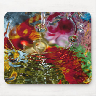 Colorful Waters Abstract Photography Mouse Pad