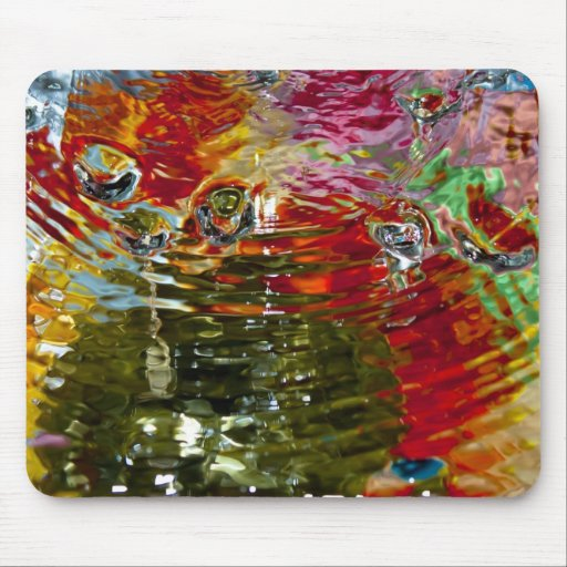 Colorful Waters Abstract Photography Mouse Pads