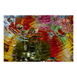 Colorful Waters Abstract Photography Poster