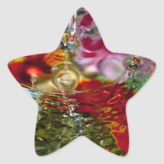 Colorful Waters Abstract Photography Star Sticker