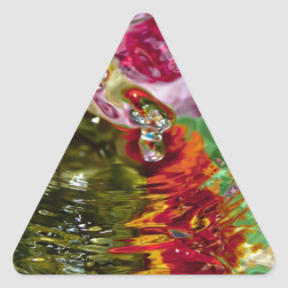 Colorful Waters Abstract Photography Triangle Sticker