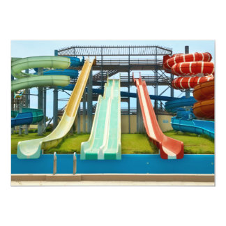Colorful Waterslides Card