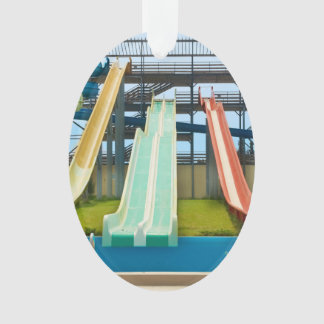 Colorful Waterslides Ornament