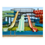 Colorful Waterslides Post Card