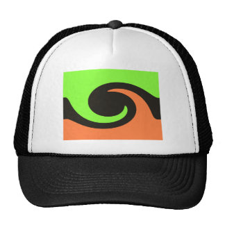 colorful wave trucker hat