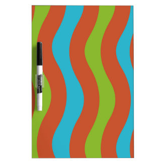 Colorful Wave Stripes Dry-Erase Board