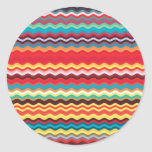 Colorful Wave Zig Zag Pattern Stickers