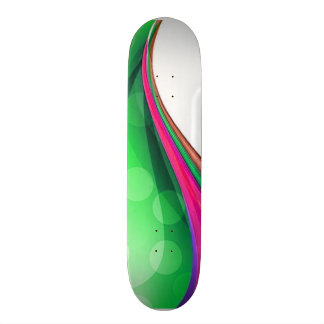 Colorful Waves 2 Skateboard