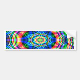 Colorful Waves Bumper Sticker