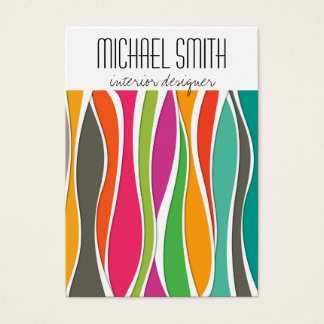 Colorful waves Interior Designer Business Card