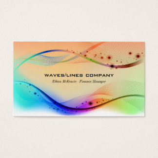 Colorful Waves Lines Business Card