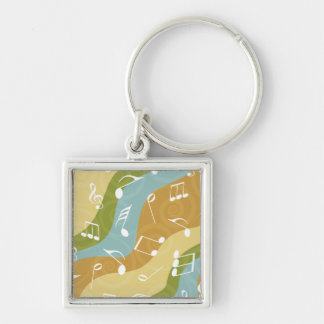 Colorful Waves of Music Notes Keychains