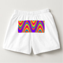Colorful waves pattern boxers