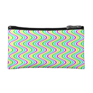 Colorful Waves Pattern - Cosmetic Bag