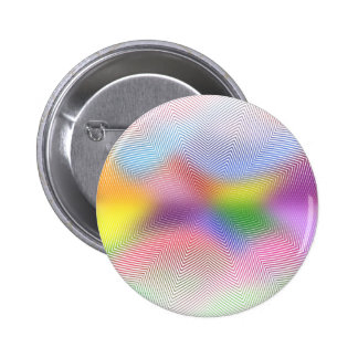 Colorful Waves: Pinback Button