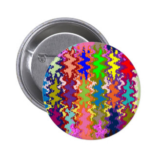 COLORFUL Waves : Signature Style Art NAVIN JOSHI 2 Inch Round Button