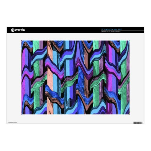 Colorful Wavy Weave Abstract Laptop Skin