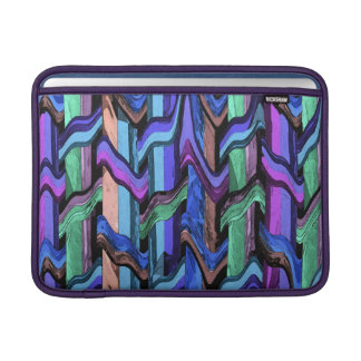 Colorful Wavy Weave Abstract Macbook Air Sleeve