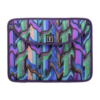 Colorful Wavy Weave Abstract MacBook Pro Sleeve