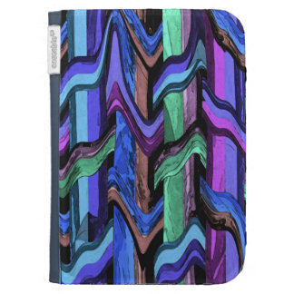 Colorful Wavy Weave Kindle Case
