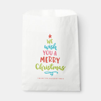 Favor Bags - Colorful We Wish You a Merry Christmas Favor Bags