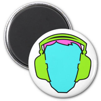 Colorful Wearing Headphones Magnet