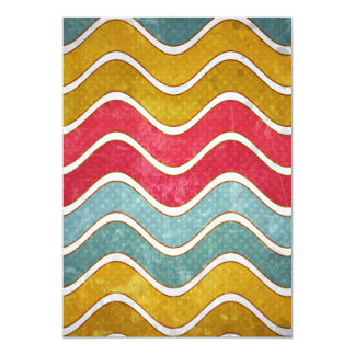Colorful Weathered Waves Pattern Card