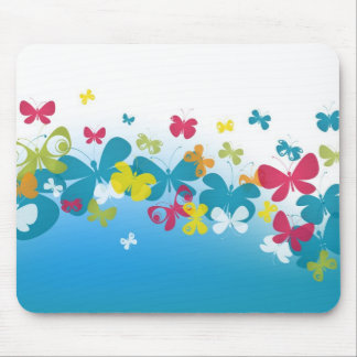 Colorful weave of butterflies mouse pad