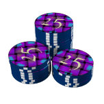 Colorful Weave pattern Set Of Poker Chips