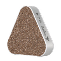 Colorful Wedding Anniversary Brown Tan Glitter Bluetooth Speaker
