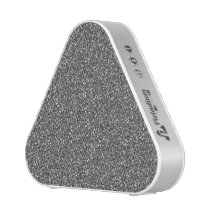 Colorful Wedding Anniversary Gray Silver Glitter Bluetooth Speaker