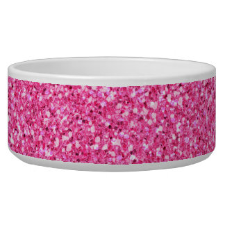 Colorful Wedding Anniversary Pink Glitter Bowl