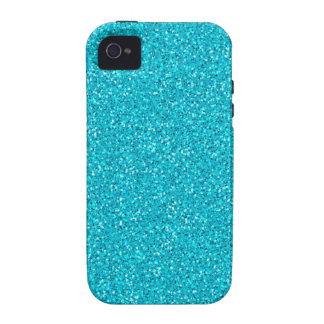 Colorful Wedding Anniversary Teal Glitter Case-Mate iPhone 4 Covers