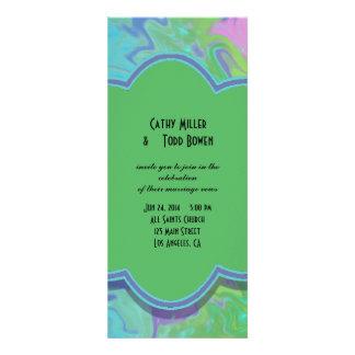 Colorful Wedding green blue splash abstract Custom Invitation