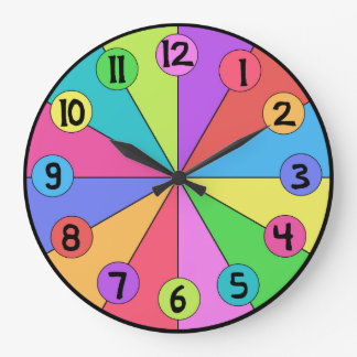 Colorful Wedges Kids Clock