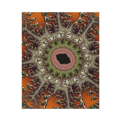Colorful Weird Giant Urchin Fractal Abstract Canvas Print